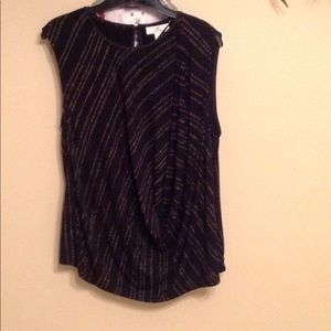 H by Halston short sleeve ruched top Sz:L